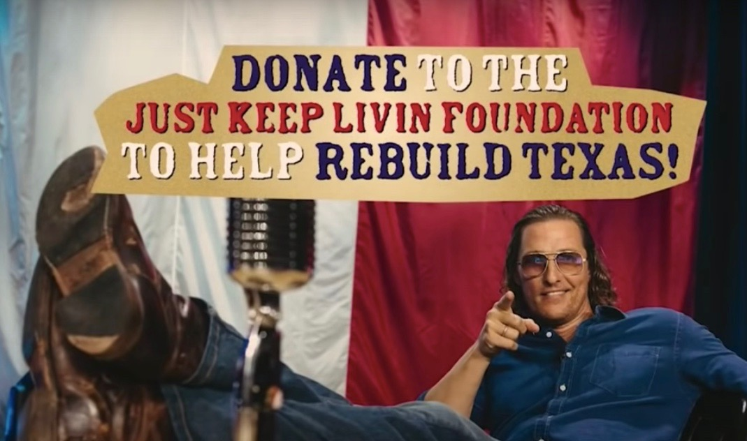 Matthew McConaughey We're Texas Benefit Raises $7.8M